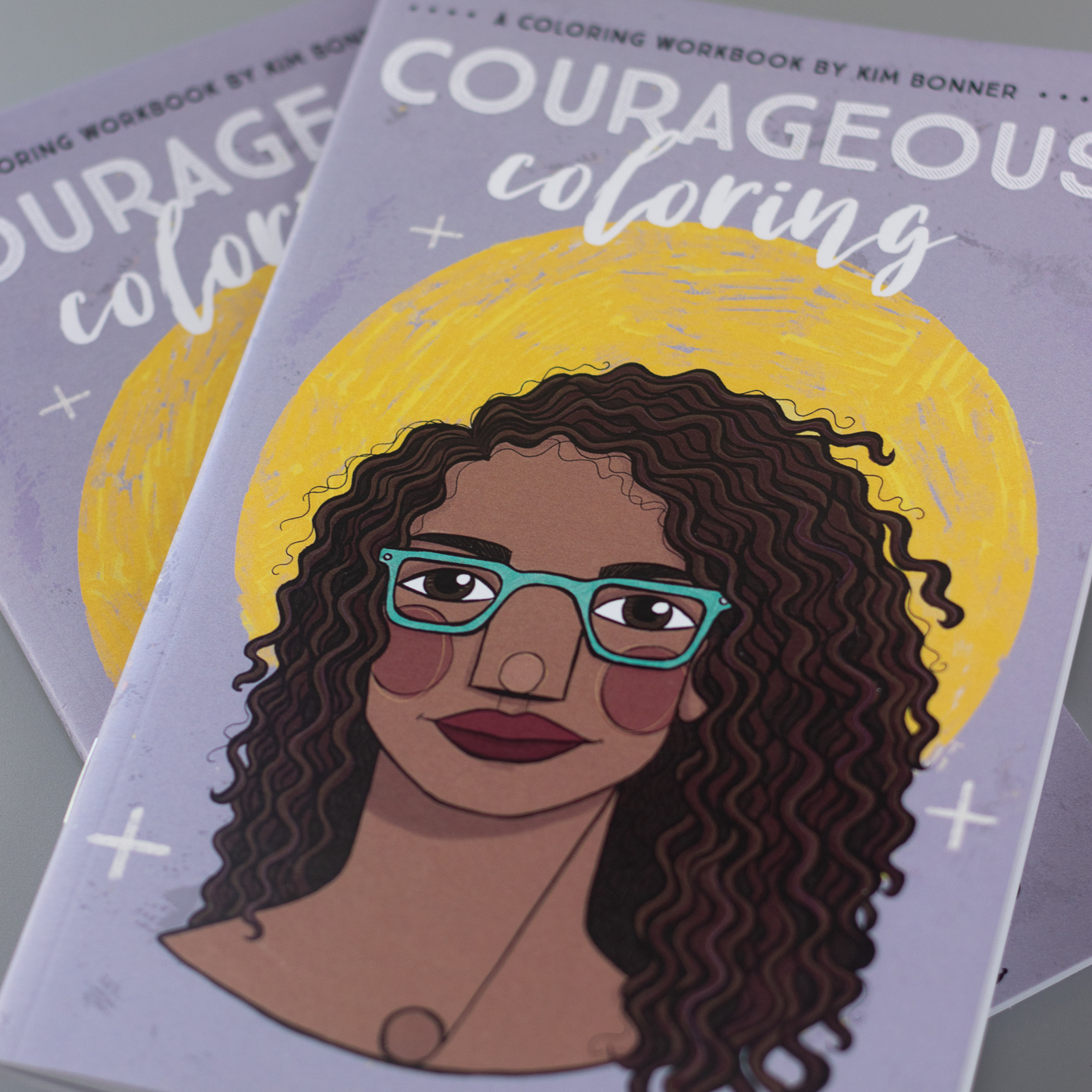 An interior page of the Courageous Coloring workbook by Kim Bonner from Fenton, Michigan.